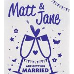tea towel for wedding invitations marrage