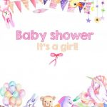 Baby Shower invitation on tea towels