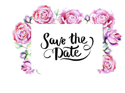 save the date message